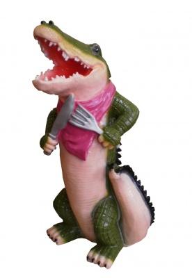 Садовая фигура из гипса Крокодил голодный