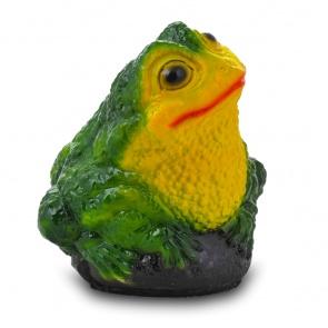 Гипсовая садовая фигурка Средняя Жаба на камне