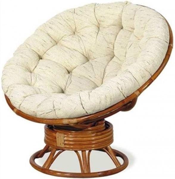 Кресло-качалка «Папасан» из ротанга (коньяк)