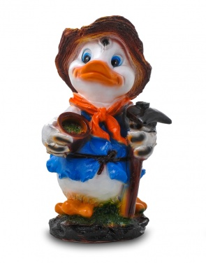 Гипсовая фигура для декора сада и дачи Утка с мотыгой