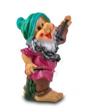Гипсовая садовая фигурка Гном со скрипкой