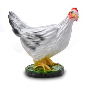 Гипсовая фигура для декора сада и дачи Курица