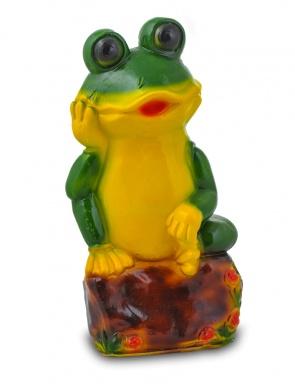 Гипсовая садовая фигурка Лягушка на камне
