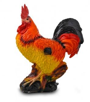 Гипсовая фигура для декора сада и дачи Петух (красный)