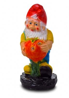 Гипсовая садовая фигурка Гном с яблоком