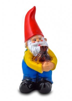 Гипсовая садовая фигурка Гном с мешком