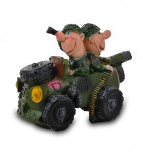 Гипсовая копилка для денег Автомобиль с солдатами