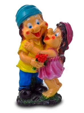 Гипсовые фигуры для сада Мальчик с девочкой