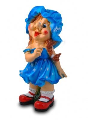 Гипсовые фигуры для сада Девочка в шляпе