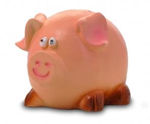 Гипсовая копилка для денег Свинка (средняя)