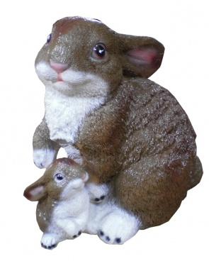 Гипсовая копилка для денег Два зайца