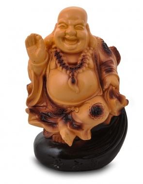 Гипсовая копилка для денег Будда на мешке (средний)