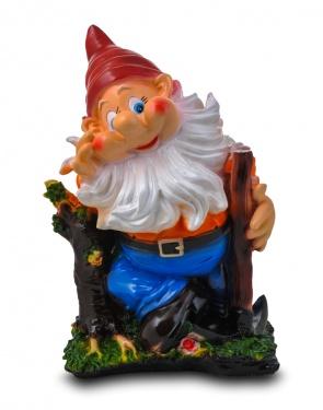 Гипсовая садовая фигурка Гном с киркой у пенька