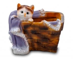 Кошка в лукошке