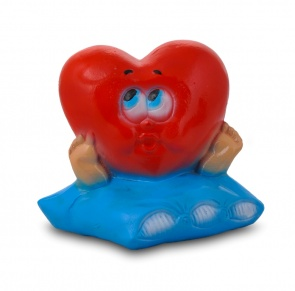 Гипсовая копилка для денег Сердце на подушке (малое)