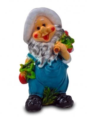 Гипсовая садовая фигурка Гном с овощами