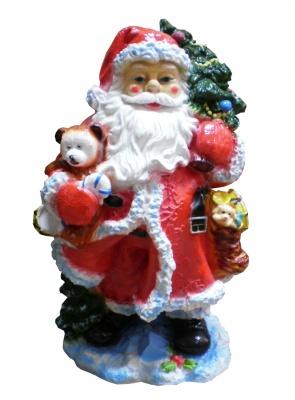 Гипсовая копилка для денег Дед Мороз (красный)