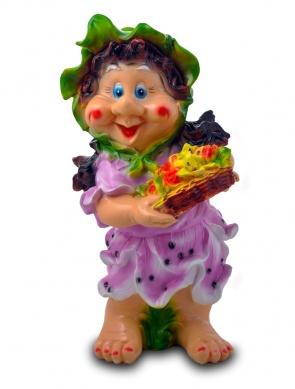 Гипсовые фигуры для сада Девочка с корзиной цветов