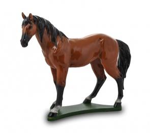 Гипсовая копилка для денег Лошадь (коричневая)