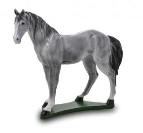 Гипсовая копилка для денег Лошадь (серая)