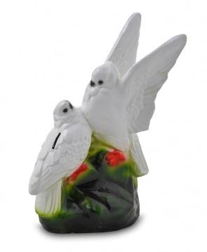 Гипсовая копилка для денег Два голубя