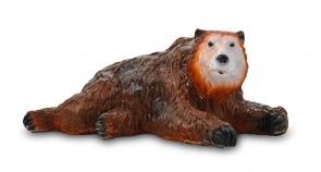 Гипсовая копилка для денег Медведь лежачий