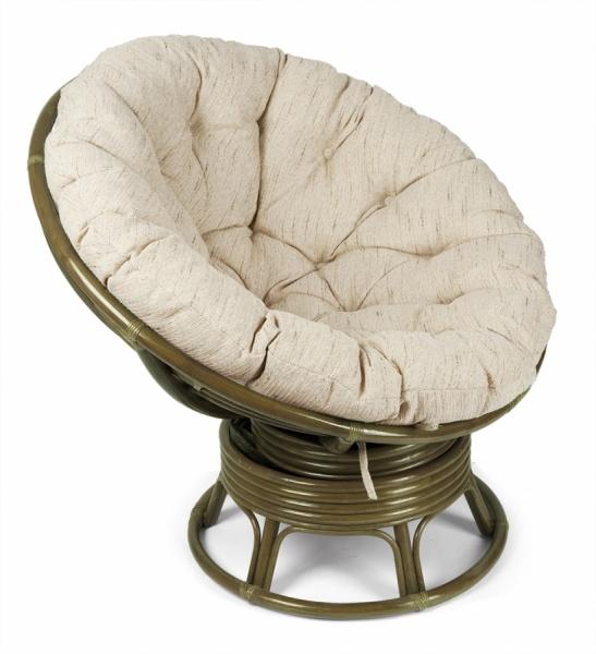 Кресло-качалка «Папасан» из ротанга (олива)