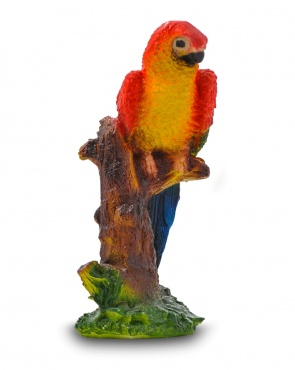Гипсовая фигура для декора сада и дачи Попугай (малый)