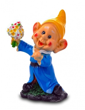 Гипсовая садовая фигурка Гном-фокусник