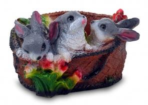 Зайцы в лукошке