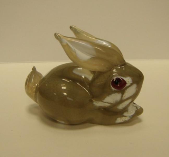 Сувенир кролик серый