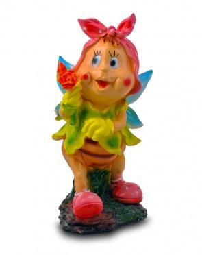 Садовая фигура из гипса Бабочка в платочке большая