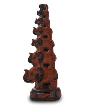Гипсовая садовая фигура-статуэтка 7 Слонов