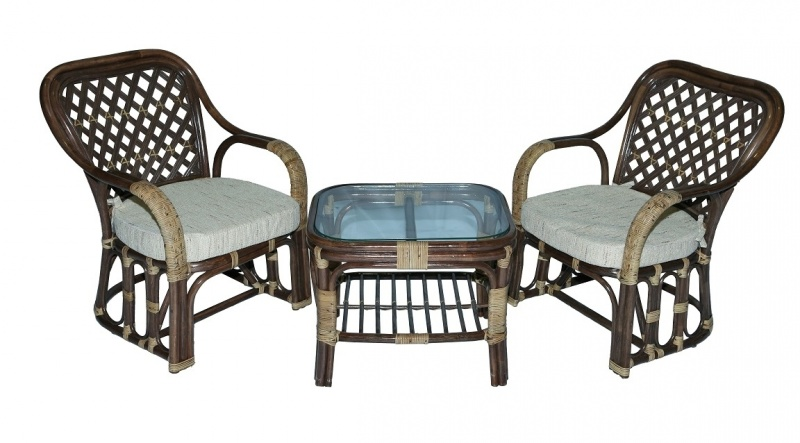 Комплект мебели кофейный 1800