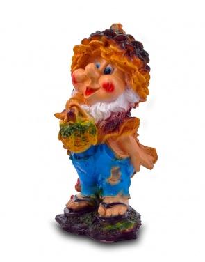Гипсовая садовая фигурка Гном-шишка