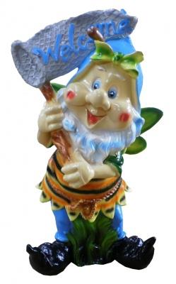 Гипсовая садовая фигурка Пчелка с сачком