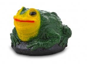 Гипсовая садовая фигурка Большая Жаба на камне