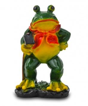Гипсовая садовая фигурка Лягушка с мотыгой