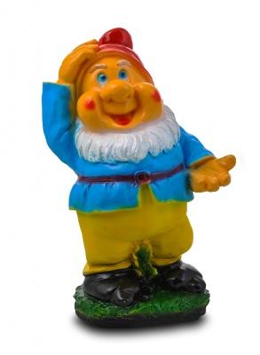 Гипсовая садовая фигурка Гном с протянутой рукой