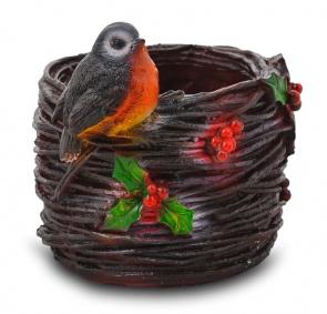 Птичка на гнезде