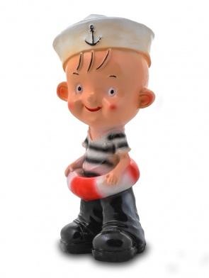 Гипсовая копилка для денег Мальчик-морячок