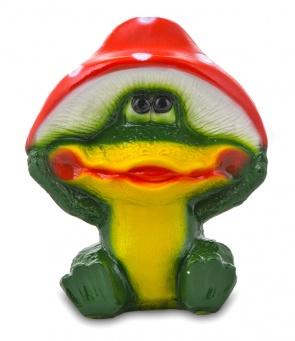 Гипсовая садовая фигурка Лягушка под мухомором