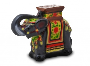 Садовая фигура из гипса Слон (подставка для цветов)