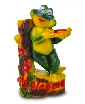 Гипсовая садовая фигурка Лягушка со скрипкой