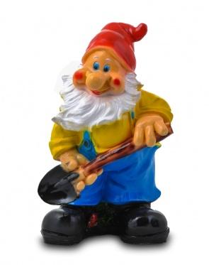 Гипсовая садовая фигурка Гном с лопатой