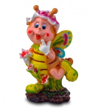 Садовая фигура из гипса Бабочка с цветком