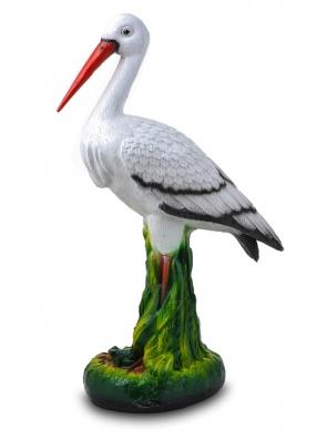Гипсовая фигура для декора сада и дачи Аист (средний)
