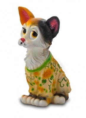 Гипсовая копилка для денег Кошка в платье