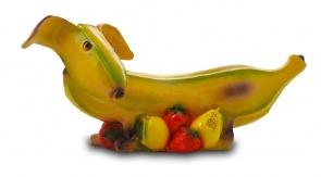 Гипсовая копилка для денег Банановая такса